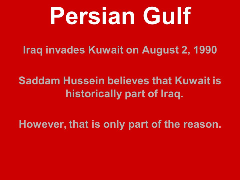 Persian Gulf Chronology of the Invasion 8/9/90----The U.N.