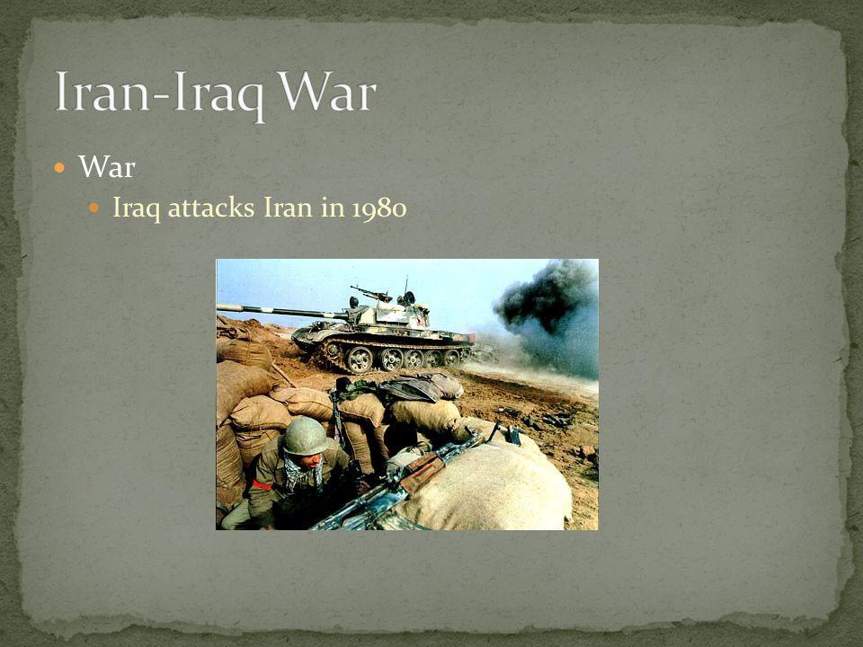 War Iraq attacks Iran in 1980