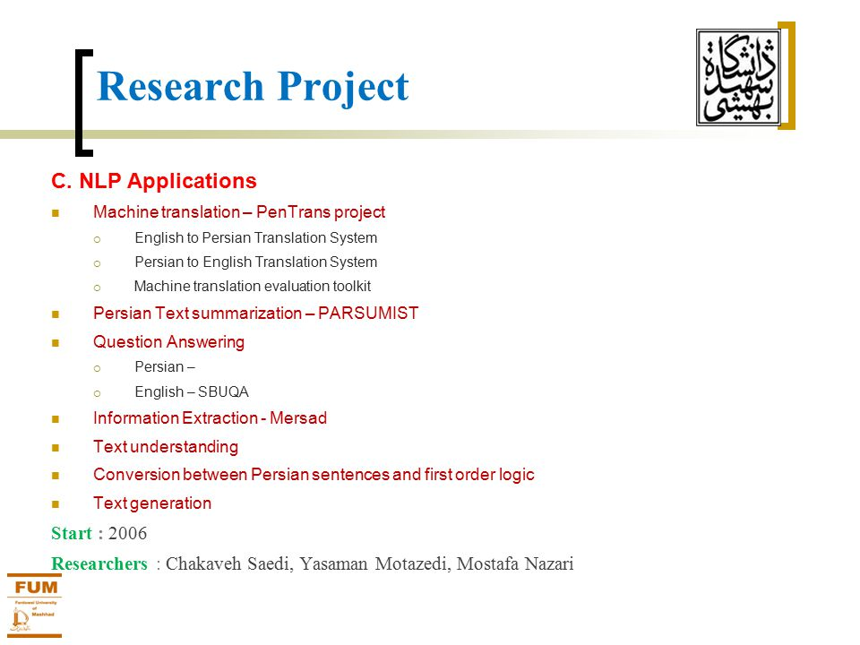 Research Project C.