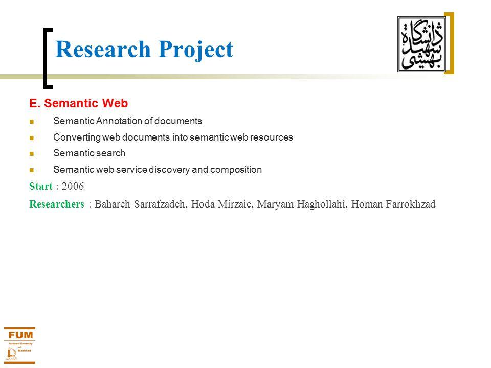 Research Project E.