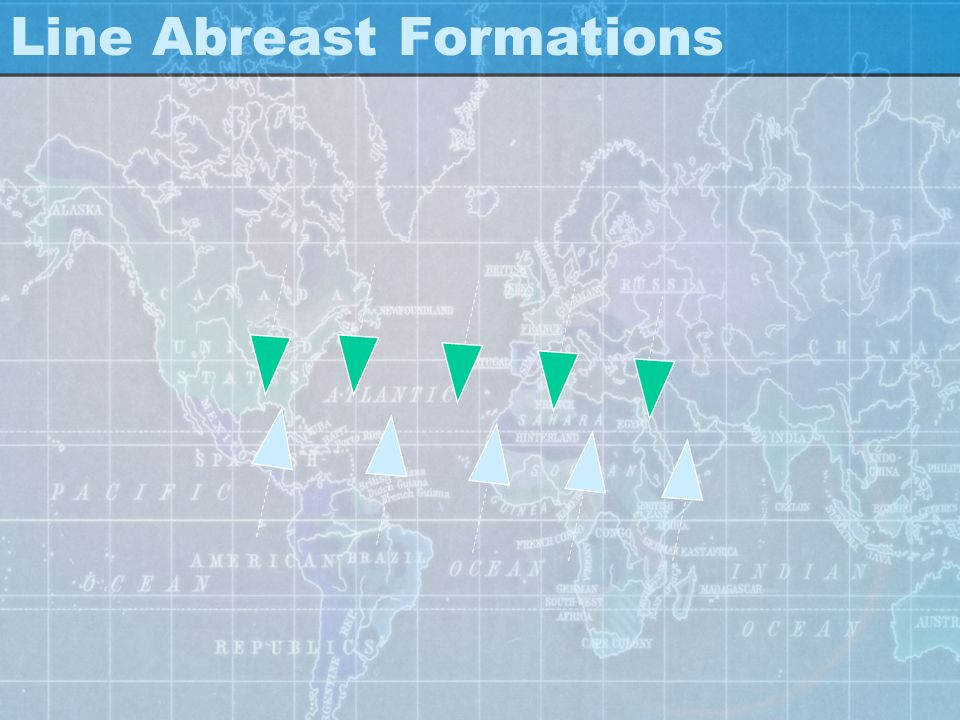 Line Abreast Formations: - Battles at sea were fought primarily as infantry battles