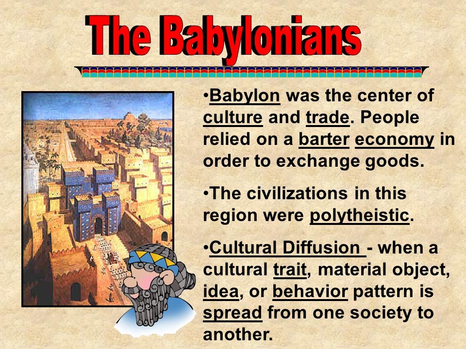 1.What type of language was spoken in Babylon.