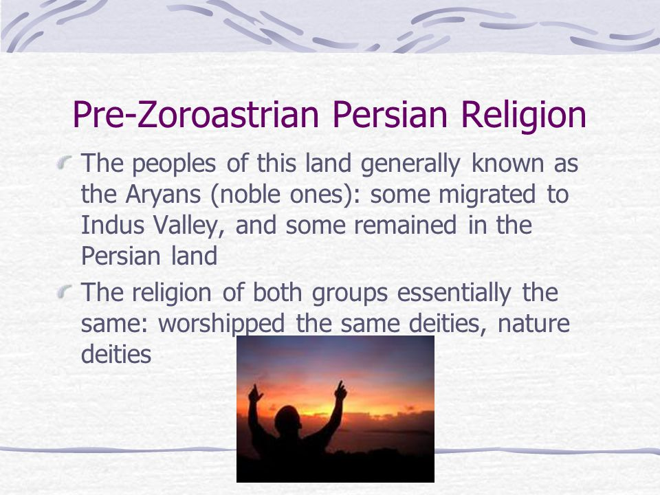 Zoroastrian Practices (1): Overview Worship consists mainly of prayers offered to Ahura Mazda, emphasis on living the righteous life and in avoiding temptations The only sacrifices are burning of incense (sandalwood) on the sacred fire On special occasions, adherents visit the fire temple, & offer bundles of sandalwood Daily tying the kusti cord prayerfully, ritually Faithful Zoroastrians pray that the six immortals may come to their homes & bless them Dakhma Tower Burial practice Ethical Conduct through life is very important