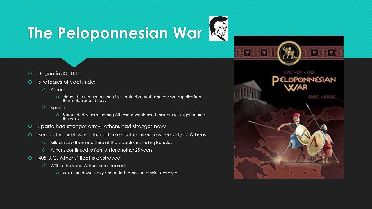 The Peloponnesian War  Began in 431 B.C.