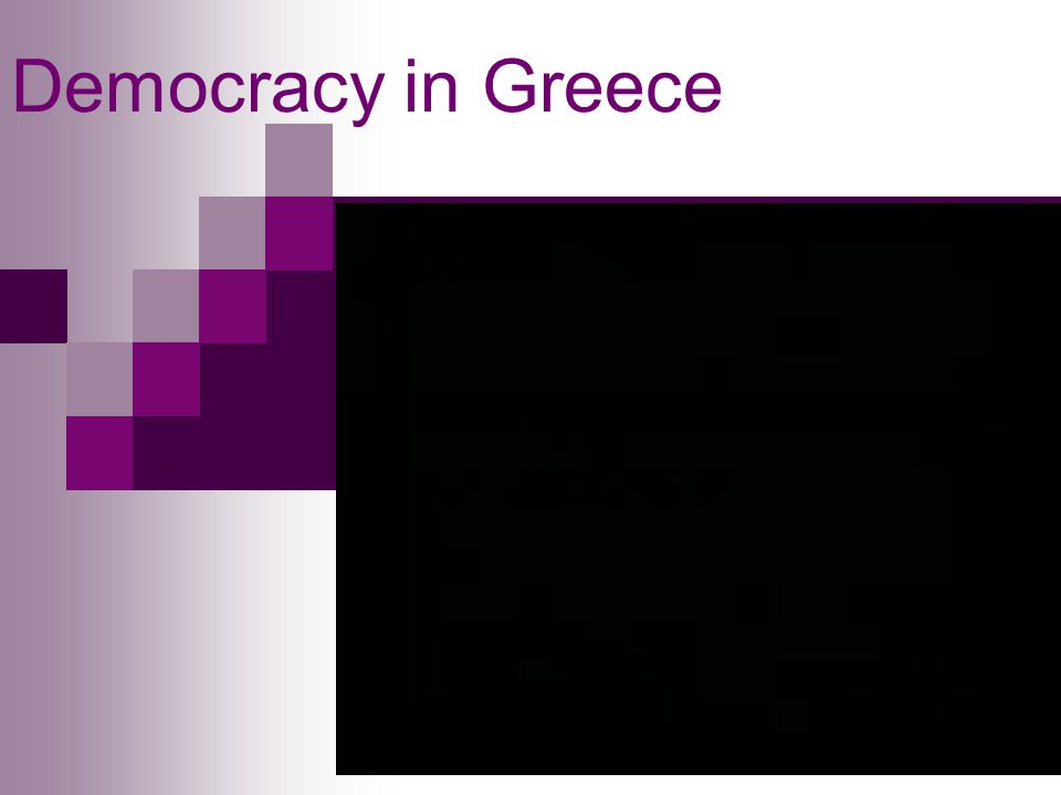 Democracy in Greece