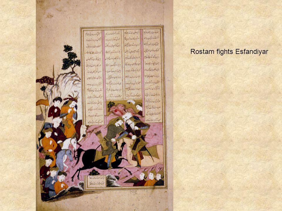Rostam fights Esfandiyar