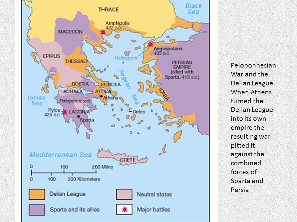 Peloponnesian War and the Delian League.