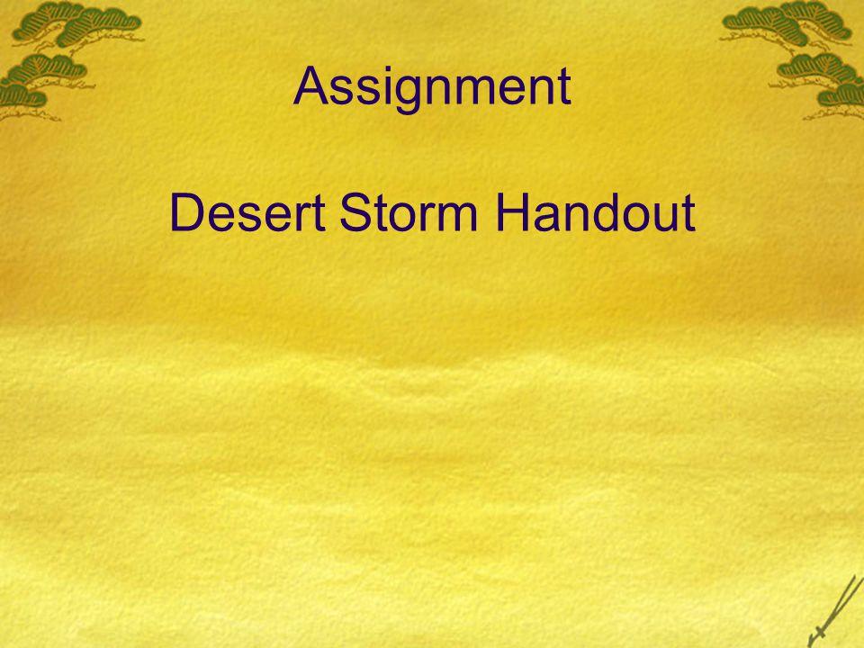 Assignment Desert Storm Handout