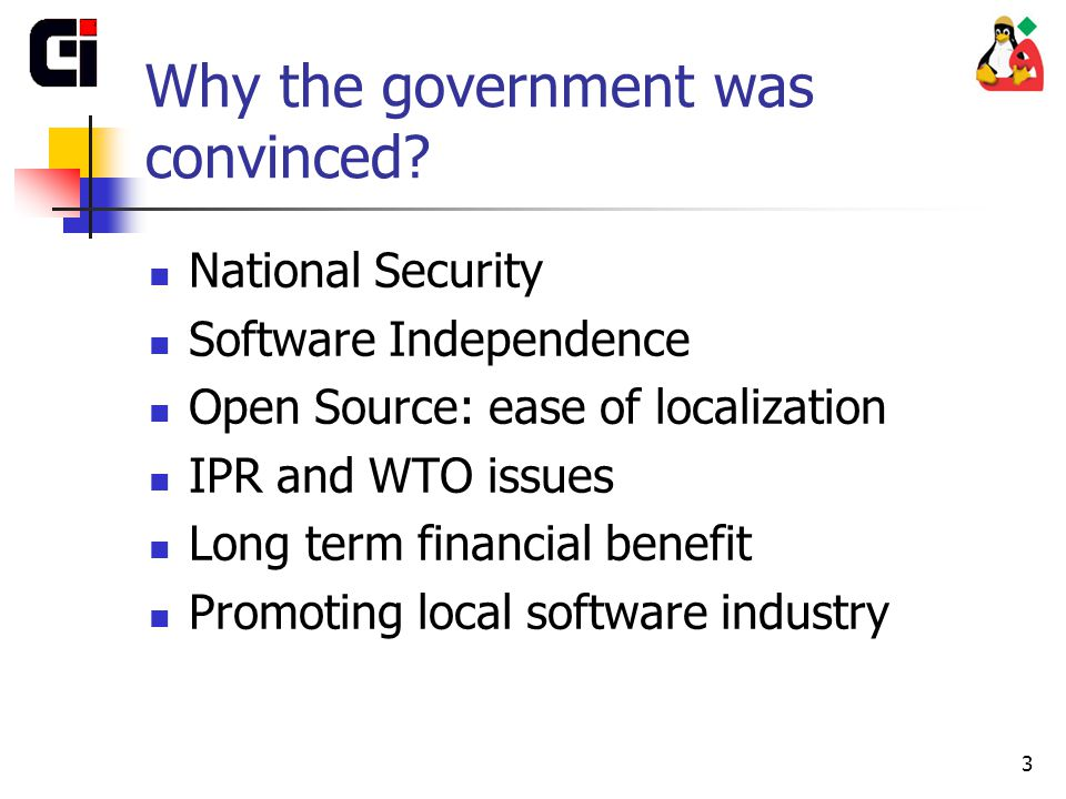 3 Why the government was convinced.