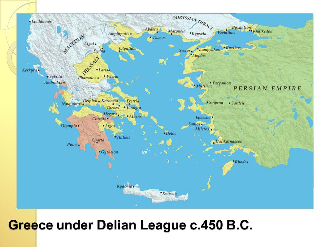 Greece under Delian League c.450 B.C.