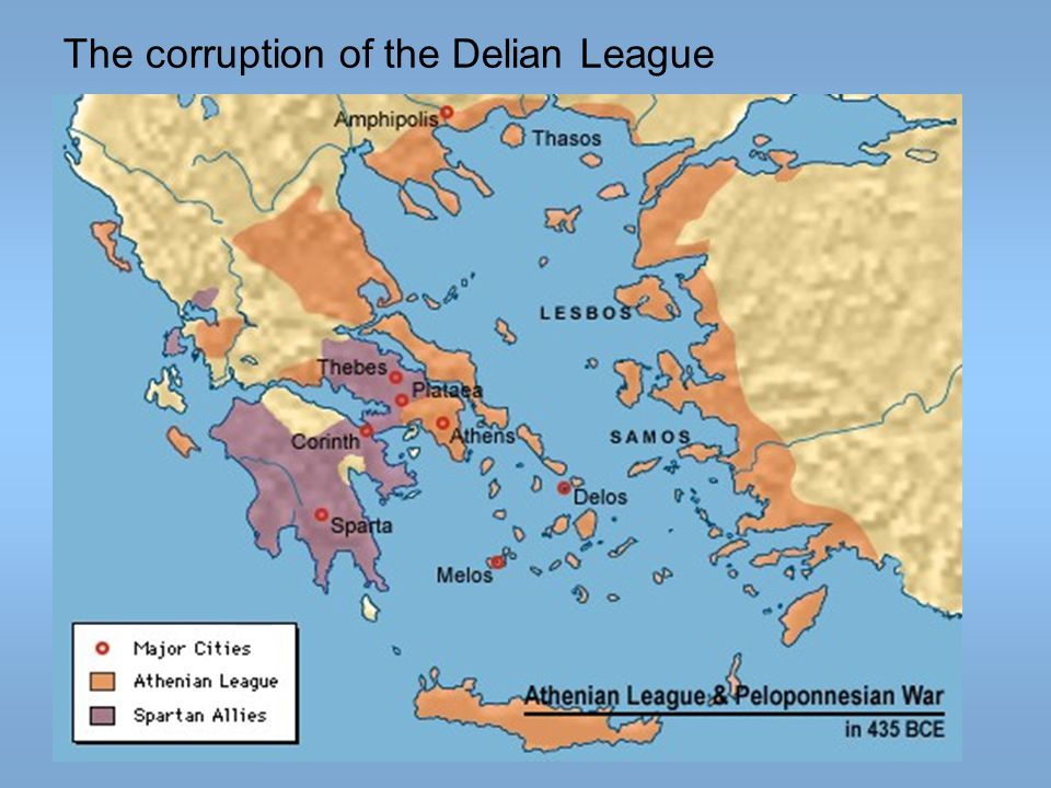The corruption of the Delian League