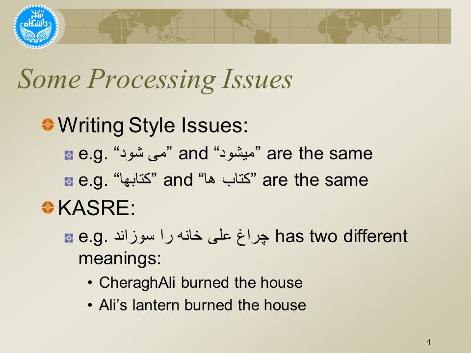 Writing Style Issues: e.g. می شود and میشود are the same e.g.