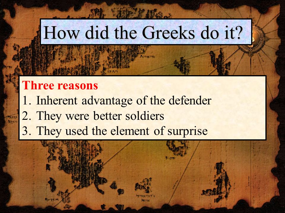 How did the Greeks do it.