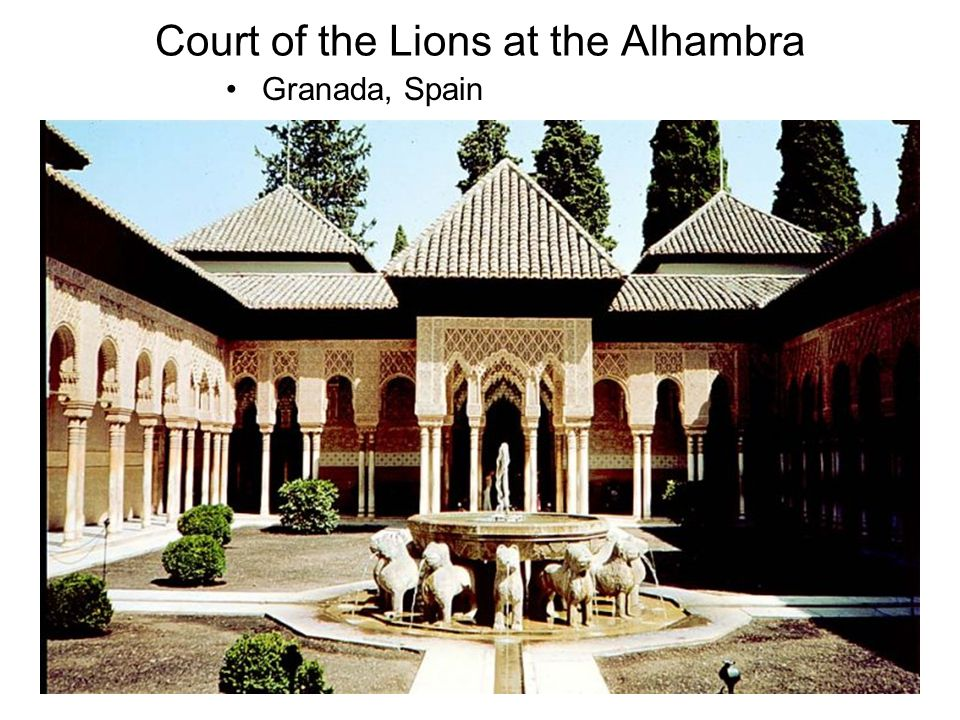 Court of the Lions at the Alhambra Granada, Spain
