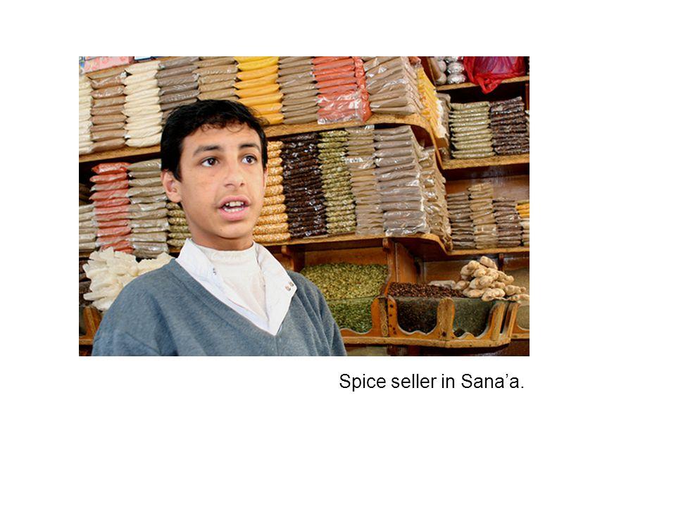 Spice seller in Sana'a.