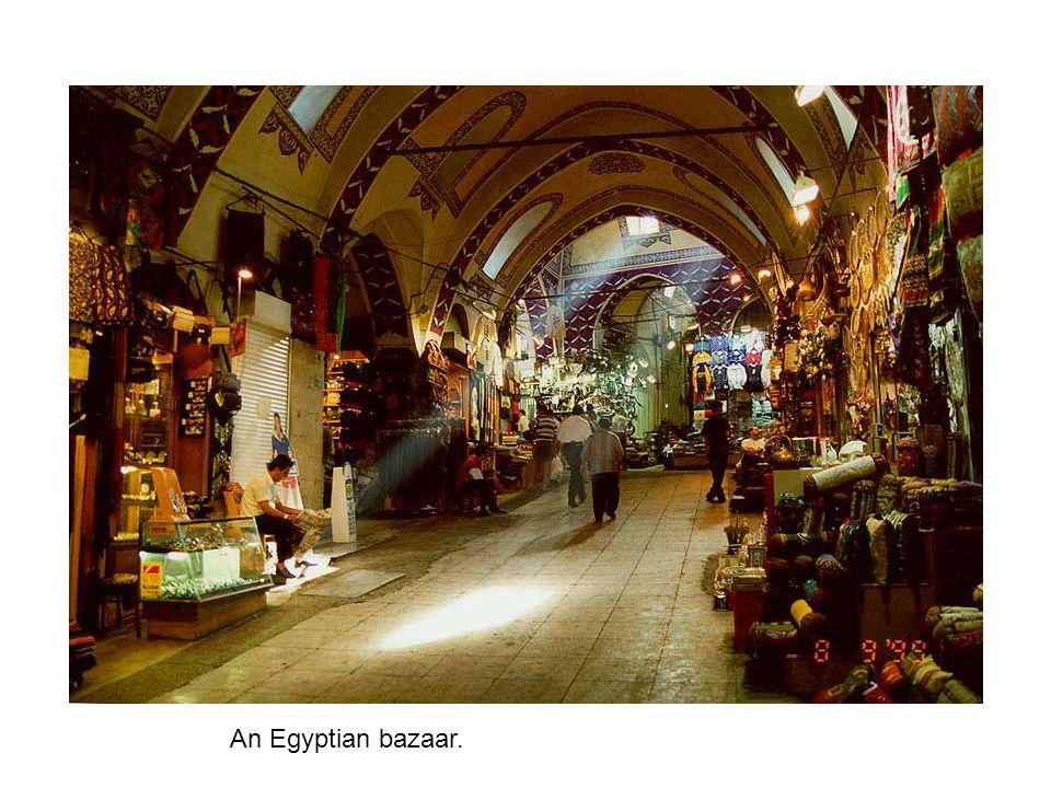An Egyptian bazaar.
