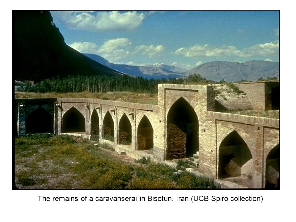 The remains of a caravanserai in Bisotun, Iran (UCB Spiro collection)