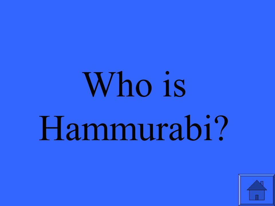 Hammurabi's creation