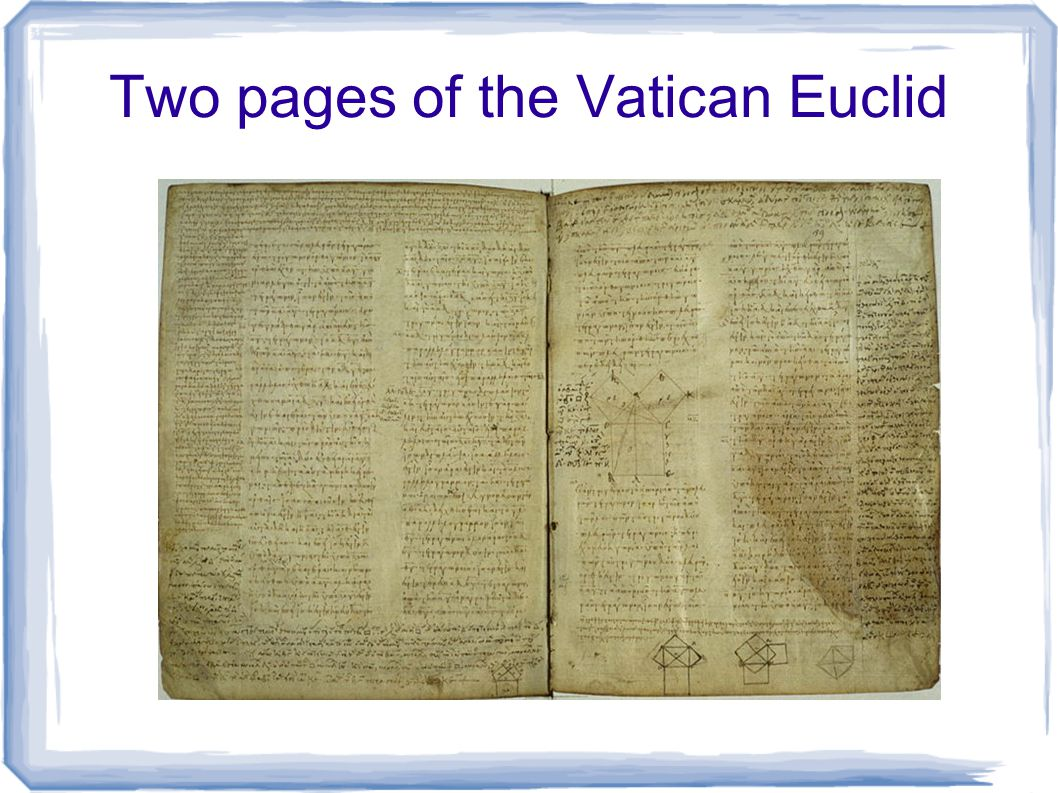 Two pages of the Vatican Euclid