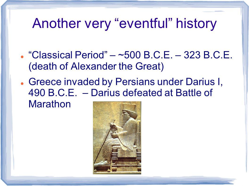 Greece and Persia 480 B.C.E.