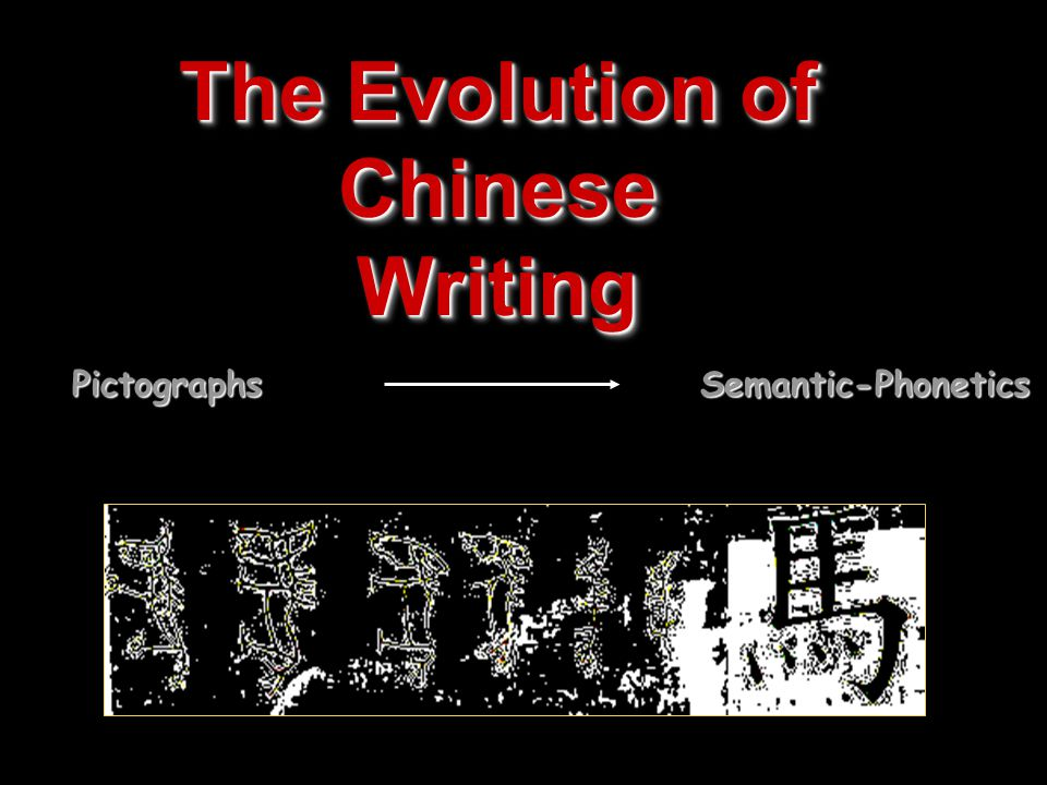 The Evolution of Chinese Writing PictographsSemantic-Phonetics