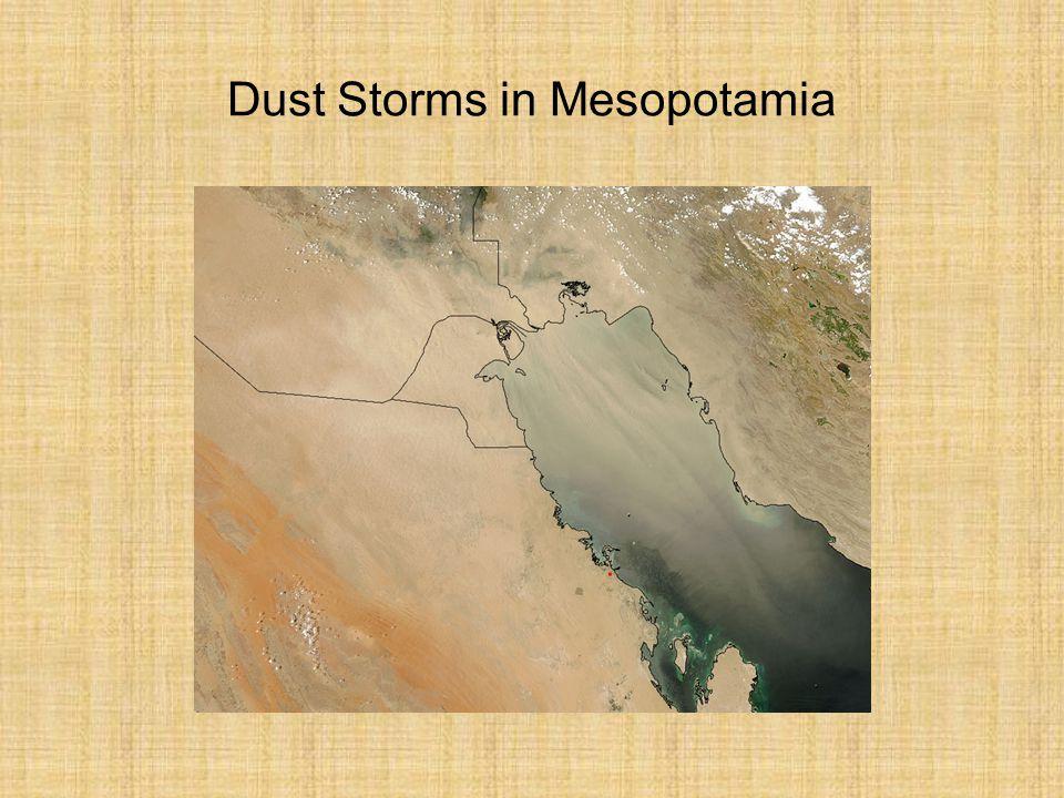 Dust Storms in Mesopotamia