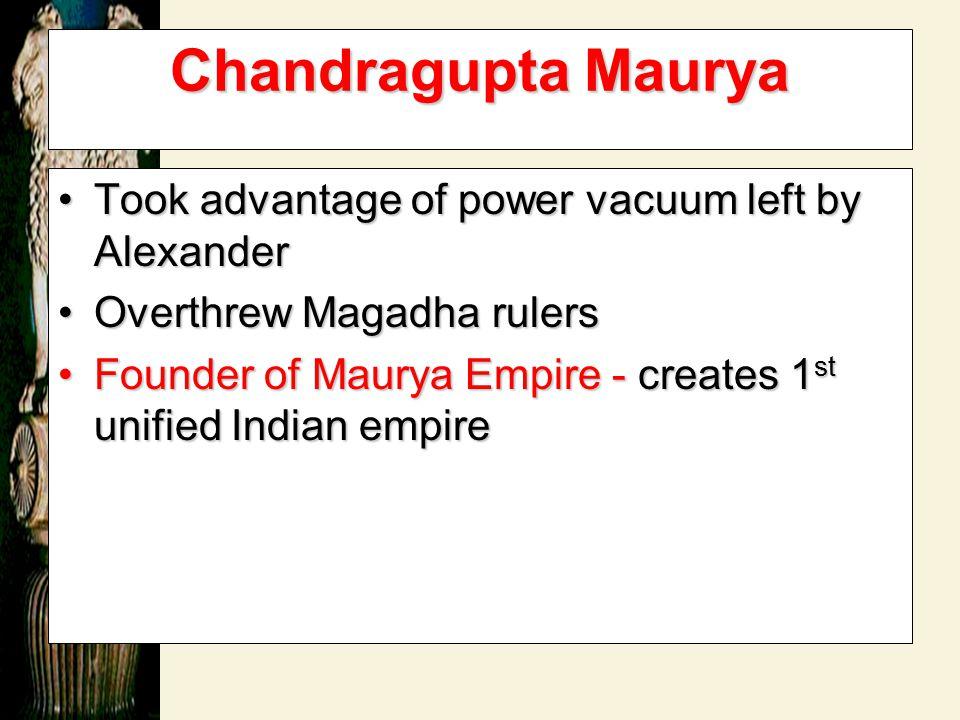 The Maurya Empire 321 BCE – 185 BCE