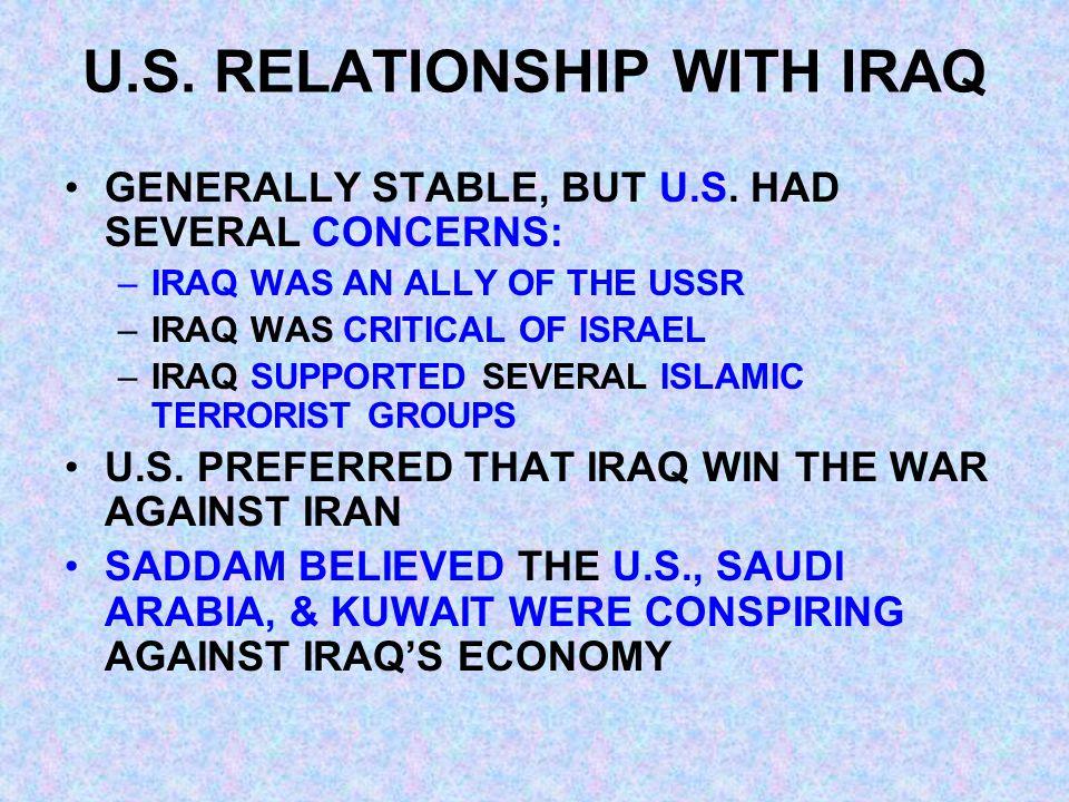 THE INVASION AUGUST 2, 1990 – IRAQ ATTACKS & OCCUPIES KUWAIT IRAQI MILITARY COMMITS ABUSES IRAQ ANNEXES KUWAIT IRAQI FORCES MOVE TOWARD THE BORDER OF SAUDI ARABIA, A U.S.