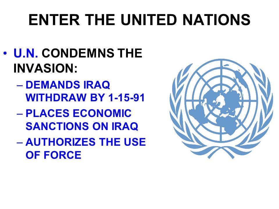 OPERATION DESERT SHIELD FEAR THAT IRAQ WOULD INVADE SAUDI ARABIA U.S.