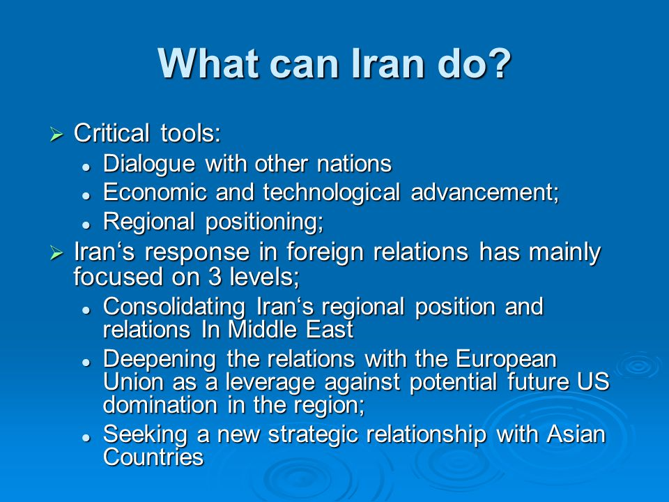 What can Iran do.