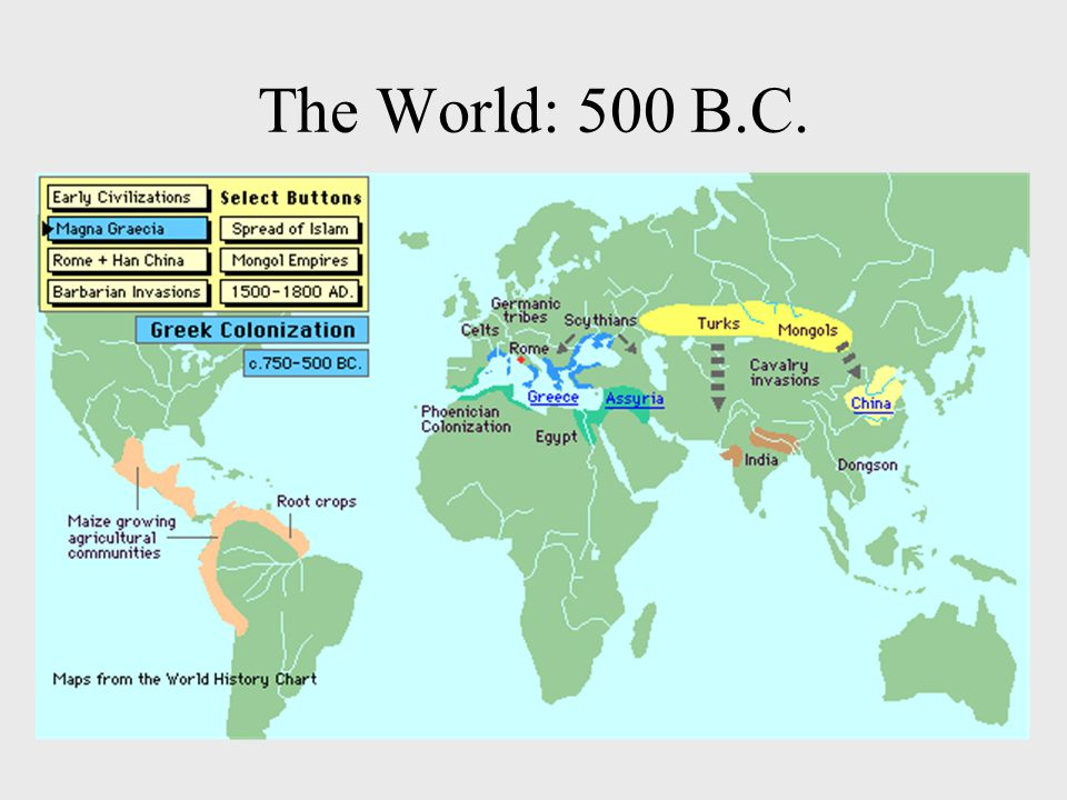 The World: 500 B.C.