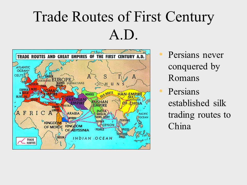 Trade Routes of First Century A.D.