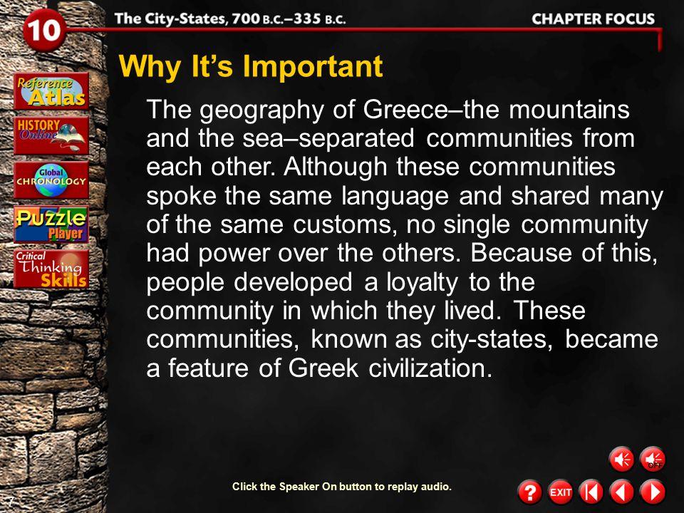 6 Chapter Focus 3 polis  acropolis  agora  aristocrats  oligarchy  constitution  mercenaries  Solon  Cleisthenes  Darius  Xerxes  Pericles