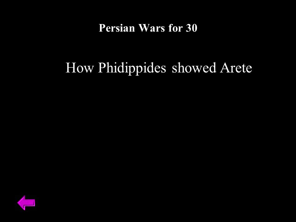 How Phidippides showed Arete Persian Wars for 30
