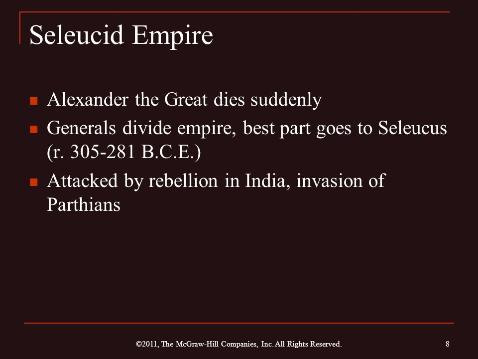 The Achaemenid and Seleucid Empires, 558-330 B.C.E.