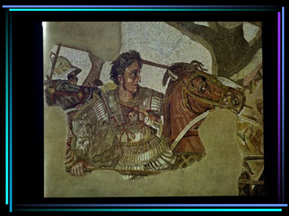 Alexander the Great  Philip II of Macedonia, Alexander's father, had conquered most of Greece by the time of his death  336 BC-Alexander from Macedonia (north of Greece) becomes King (age 20)  334 BC - Alexander invades Persian empire & wins major victory in Asia Minor