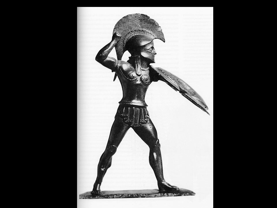Hoplite A Persian at Thermopylae would have faced a Spartan hoplite that looked exactly as represented by this bronze statuette from the late sixth or early fifth century.