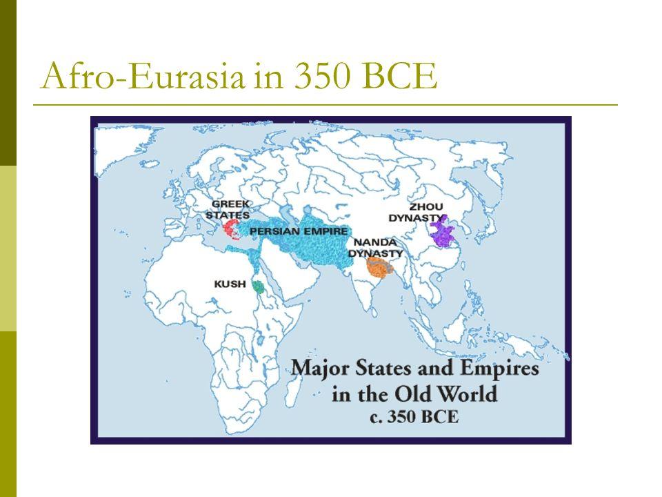 Afro-Eurasia in 350 BCE