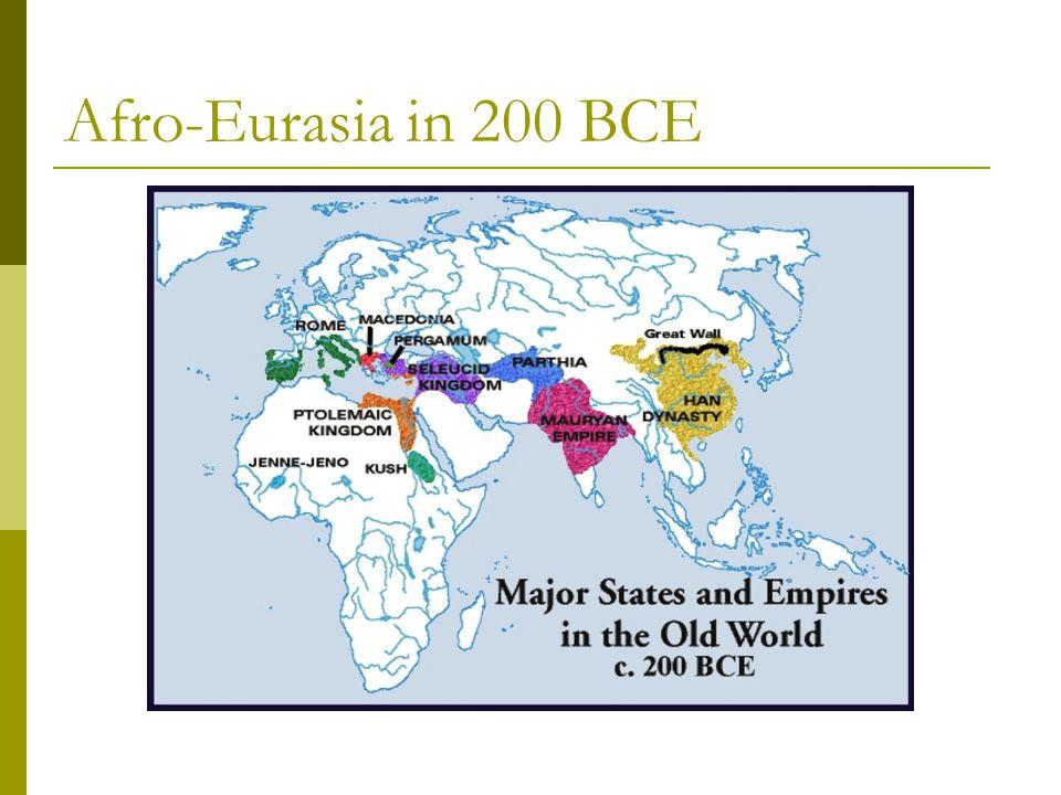 Afro-Eurasia in 200 BCE