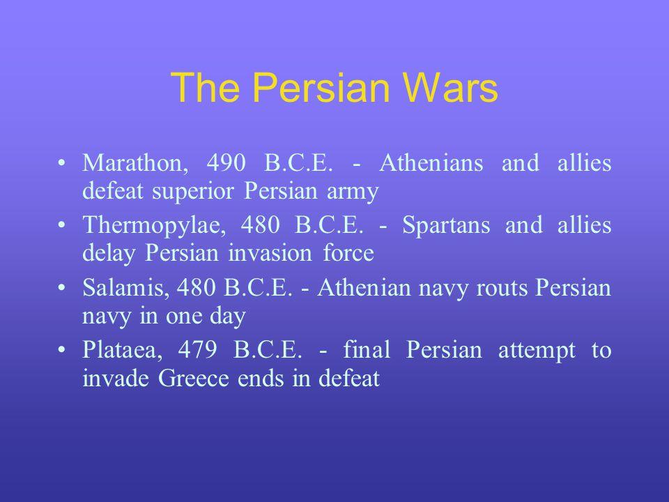 The Persian Wars Marathon, 490 B.C.E.