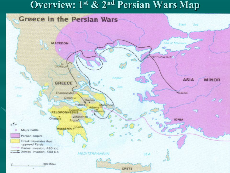 Overview: 1 st & 2 nd Persian Wars Map
