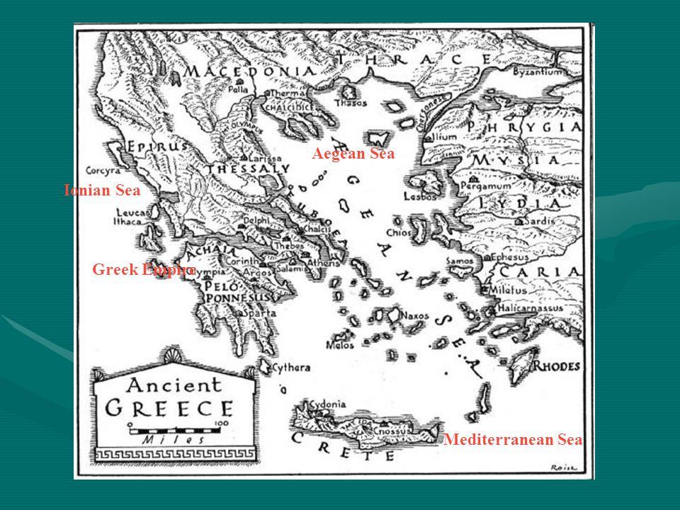 Ionian Sea Aegean Sea Mediterranean Sea Greek Empire