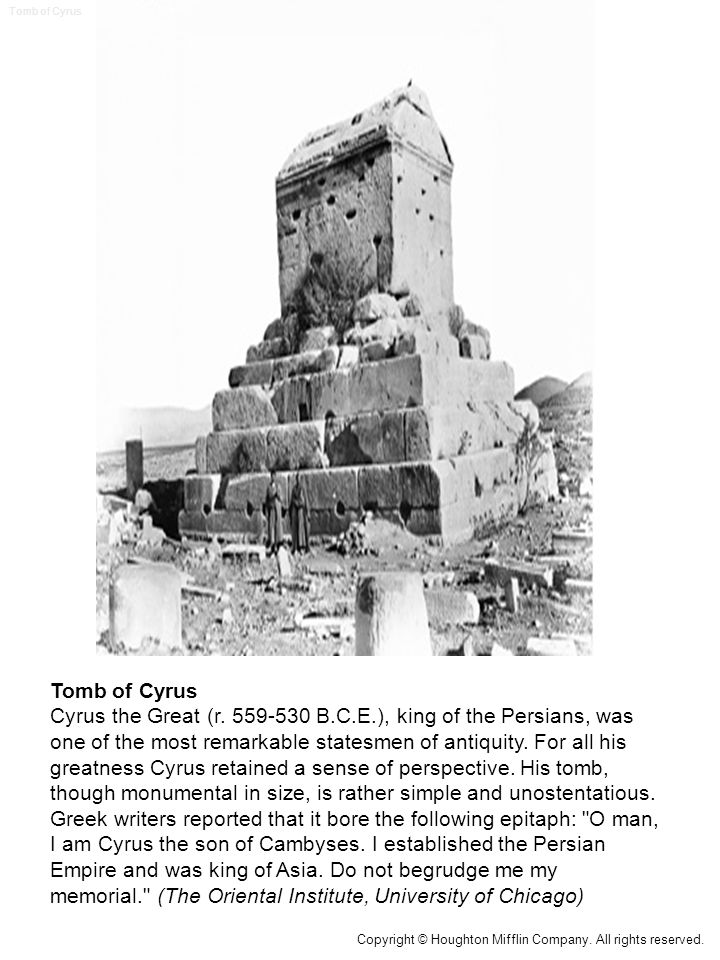 Tomb of Cyrus Cyrus the Great (r.