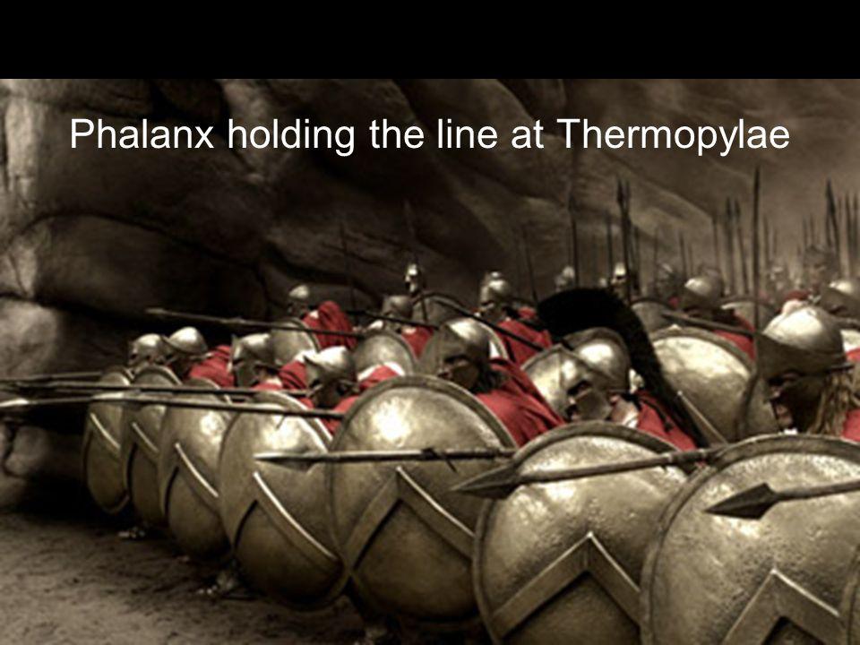 Phalanx holding the line at Thermopylae