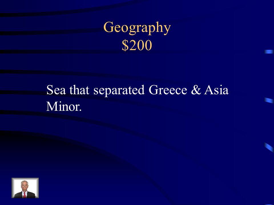 Geography $100 Mountainous