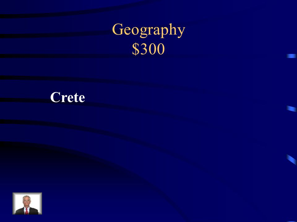 Geography $300 The Mycenaeans were from the Greek mainland, while the Minoans were from ________.