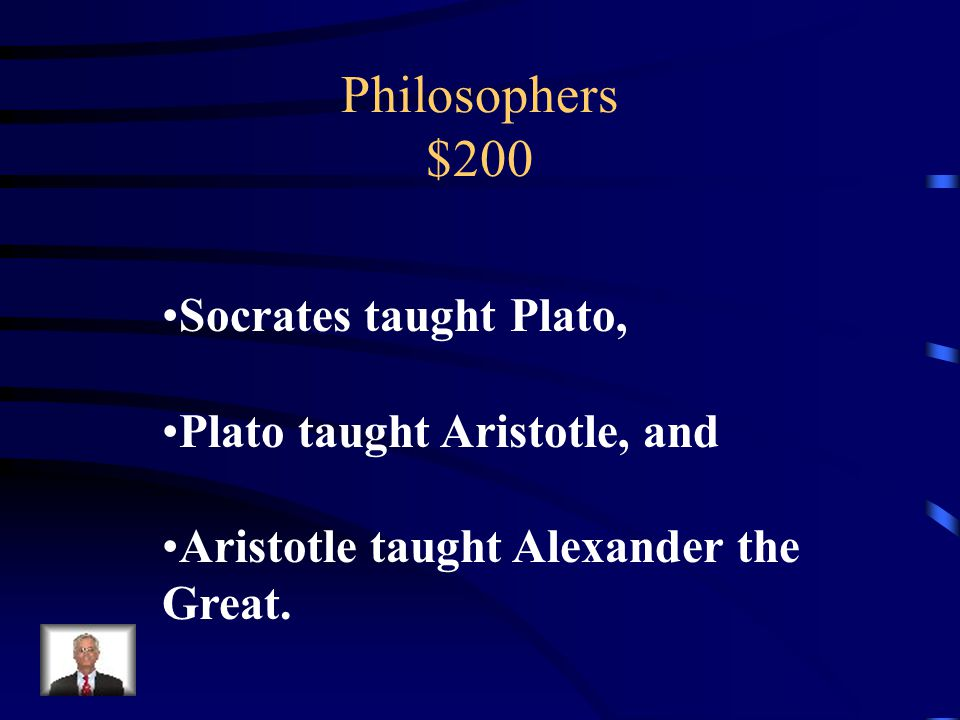 Philosophers $200 Plato was the student of ______.