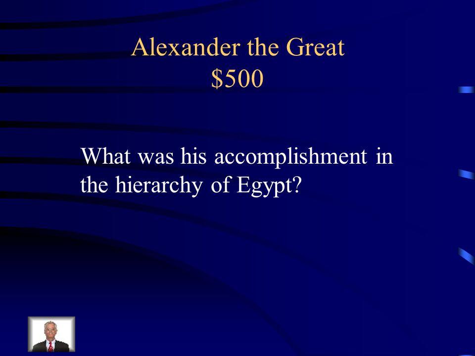 Alexander the Great $400 Hellenization