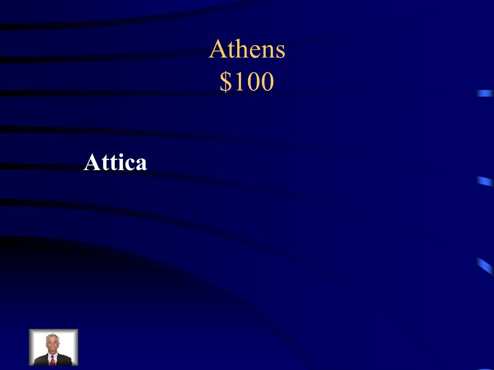 Athens $100 What was the name of the peninsula where Athens was located?