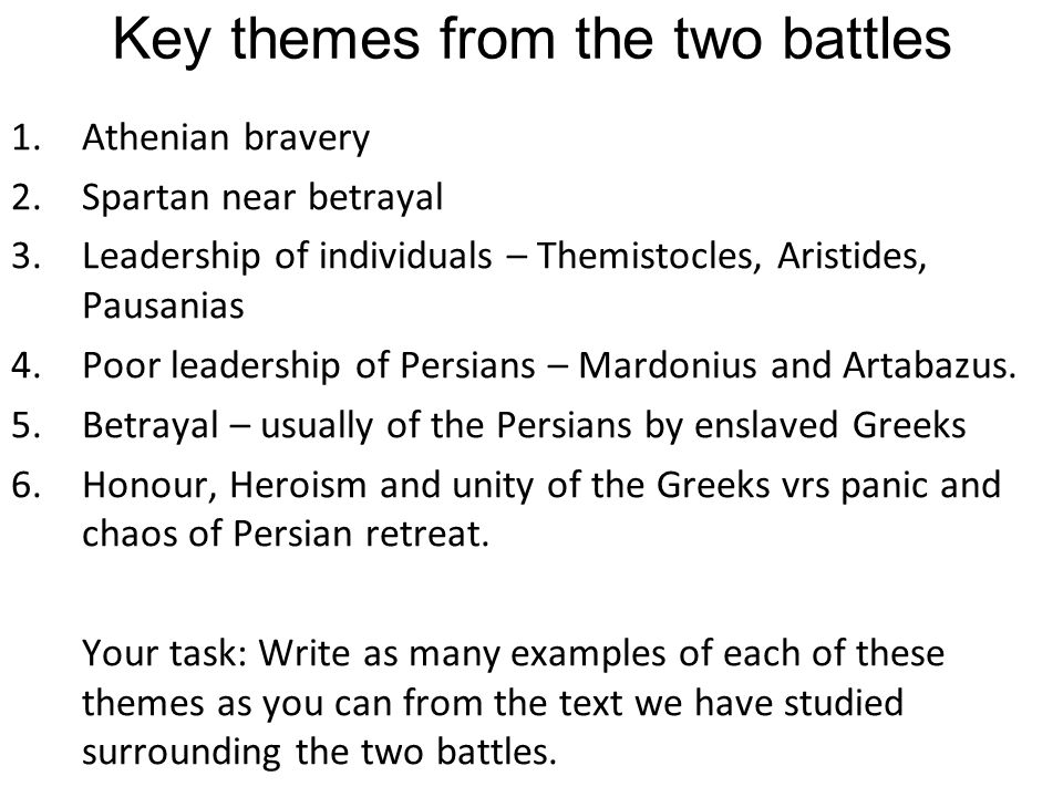 Homework questions: 1.Read Herodotus books 6-9 that we have covered.